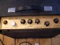 WEM Custom 15 gitaarcombo 1964, top met controlpanel met 2 instrument- en 2 microfooninputs, plus tremolo.