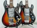 WEM Shapphire 3 6 string links en rechts een Wilson 12 string uit 1965.