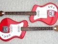 Wilson Ranger 1 boven en Ranger 2 onder, instapgitaren uit 1968.